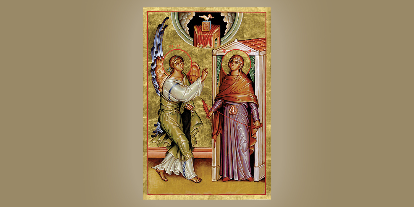 The Annunciation, by Br. Claude Lane, OSB
