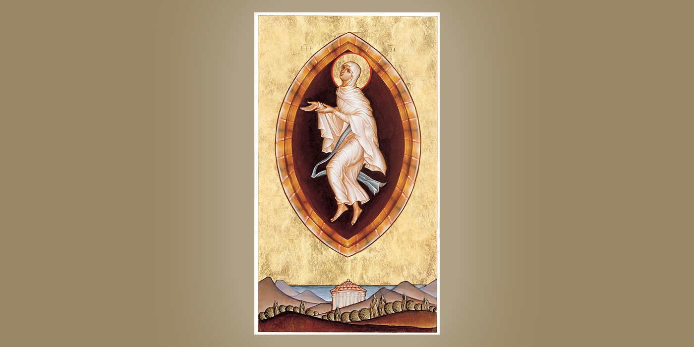 Assumption of Mary, by Br. Claude Lane, OSB