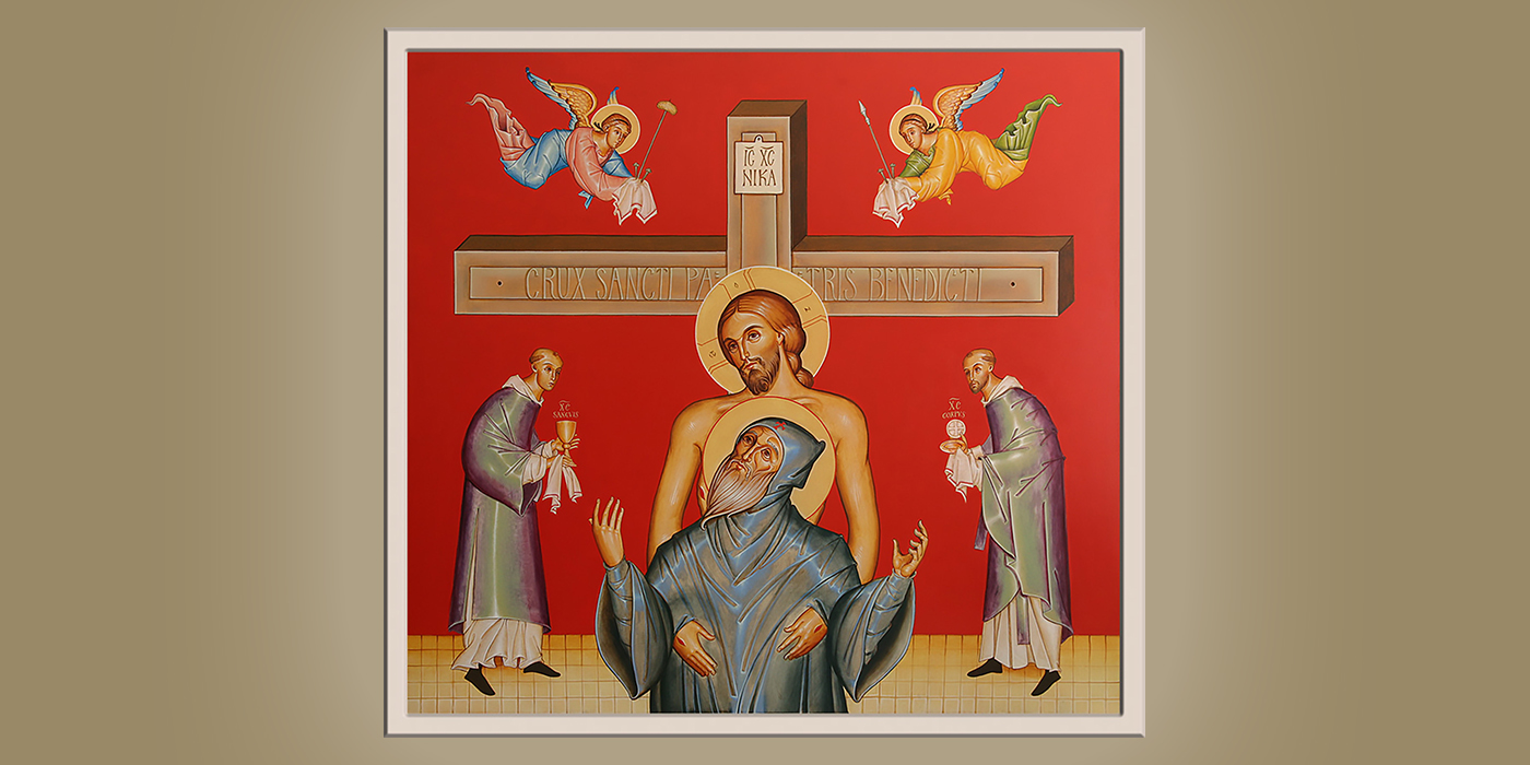 Death of St. Benedict, by Br. Claude Lane, OSB