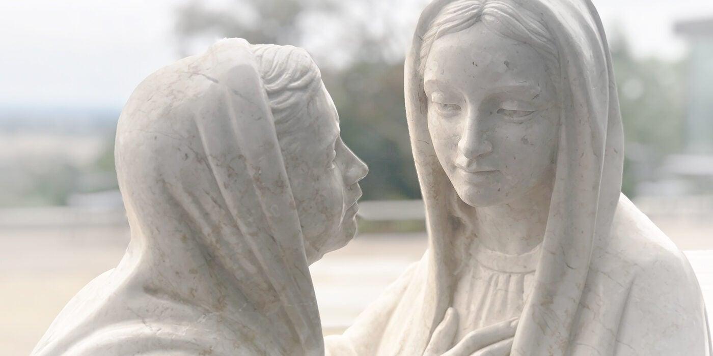 Visitation of Mary to Elizabeth detail