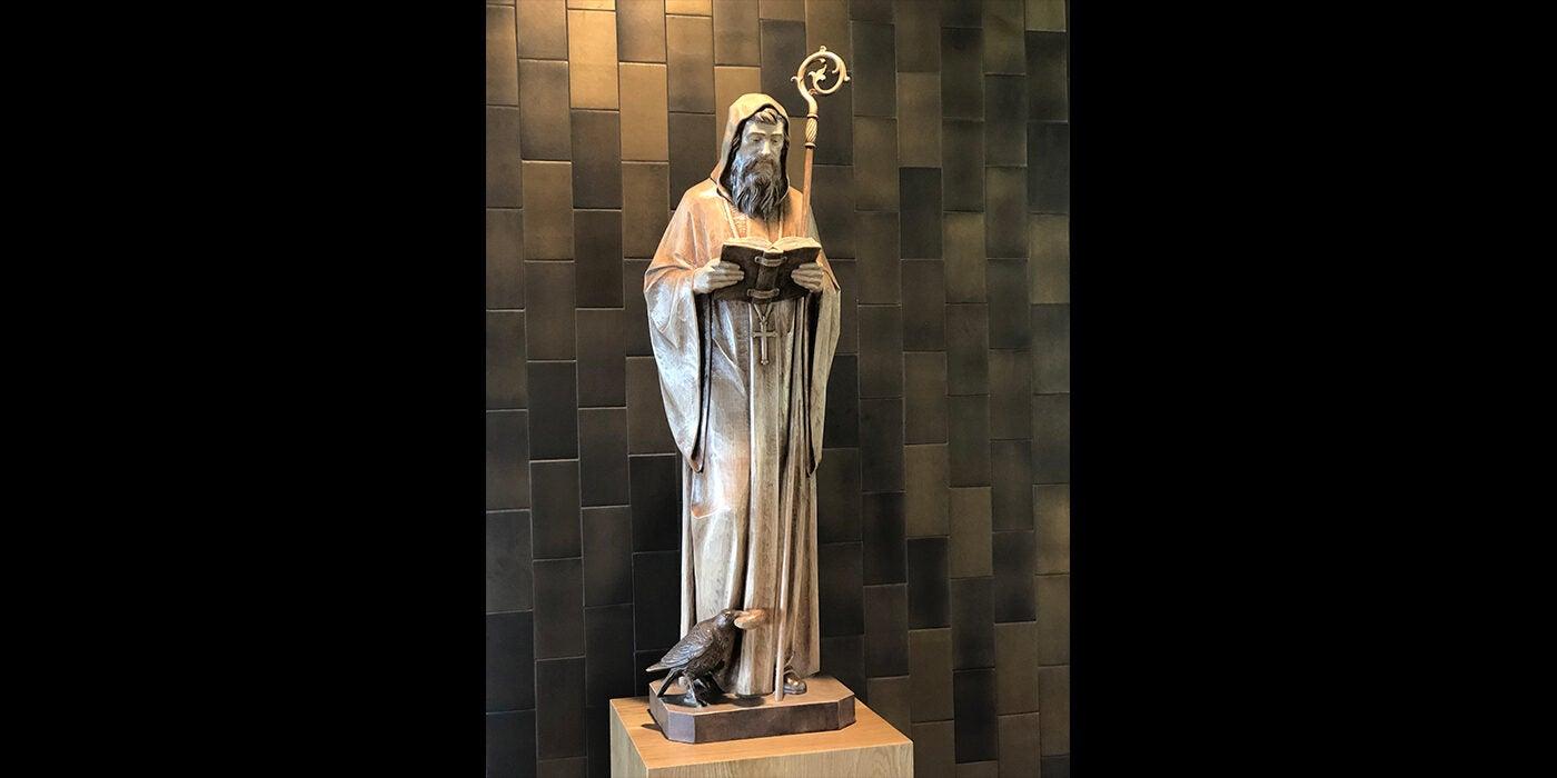 St. Benedict Statue