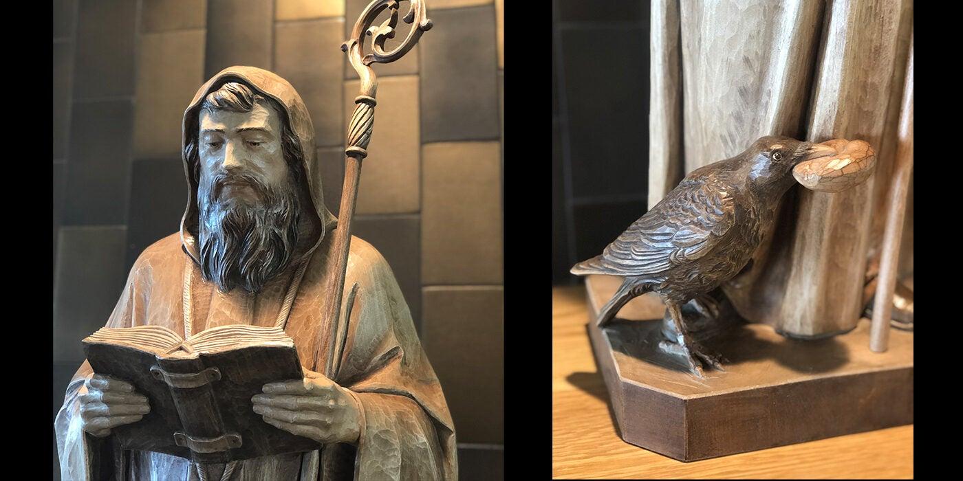 St. Benedict Statue Detail