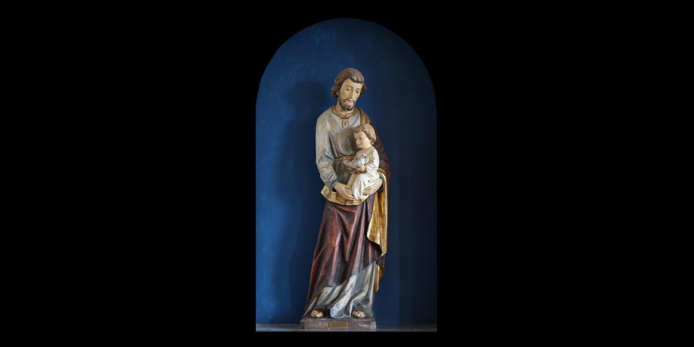 Saint Joseph with Child and Dove
