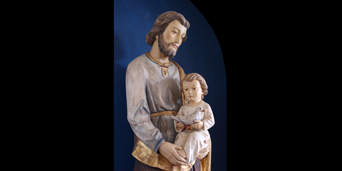 Saint Joseph with Child and Dove Detail 1