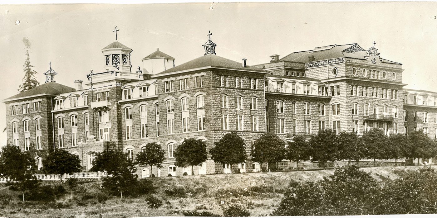 Photo of the monastery, circa 1925.