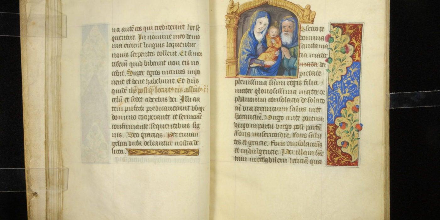 Manuscript 0029 Horae 019 Holy Family