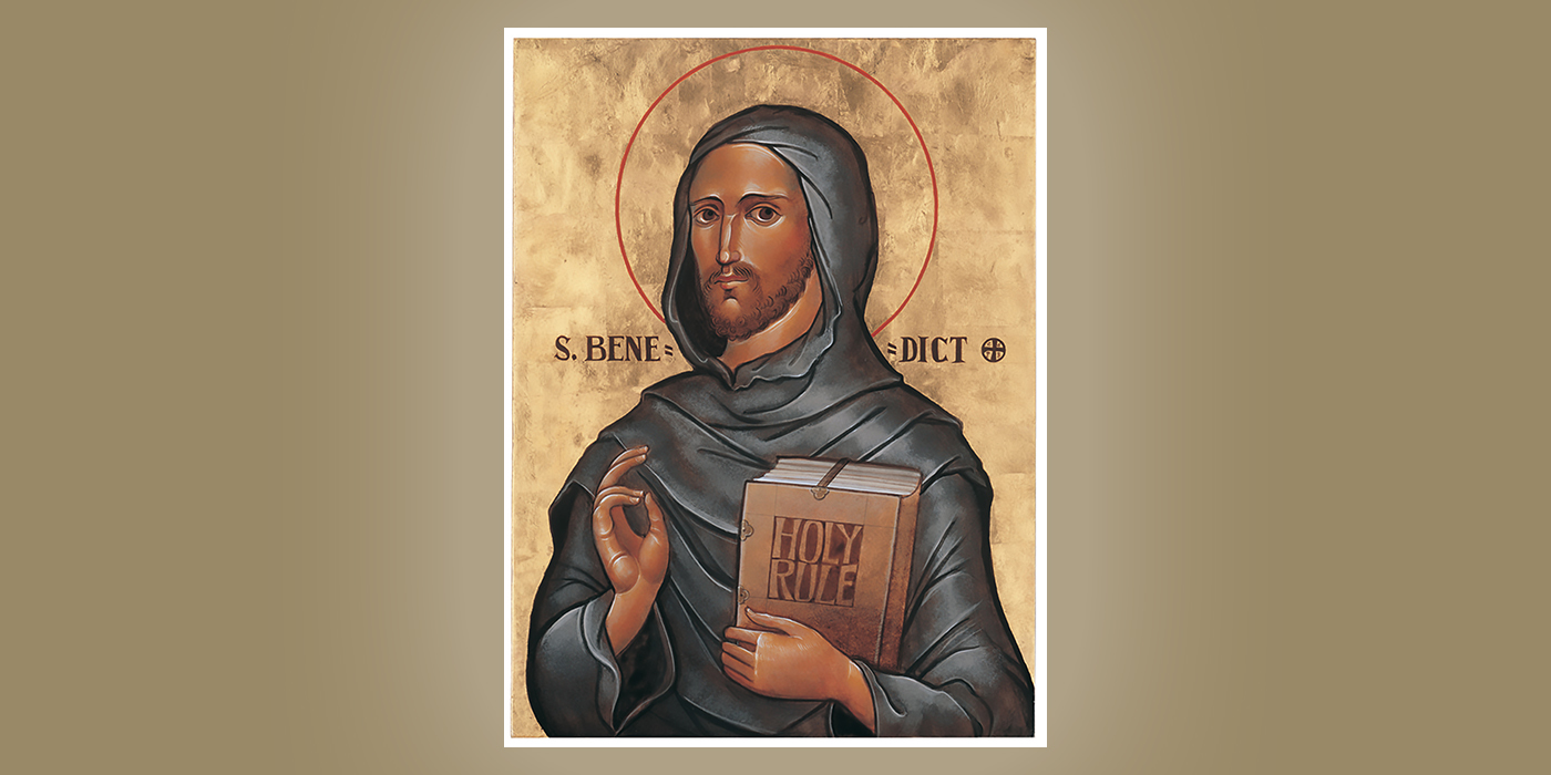 St. Benedict, by Br. Claude Lane, OSB