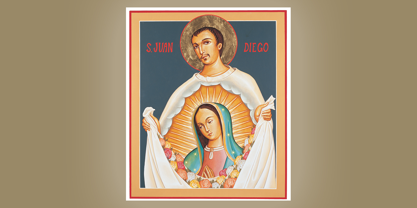 St. Juan Diego, by Br. Claude Lane, OSB