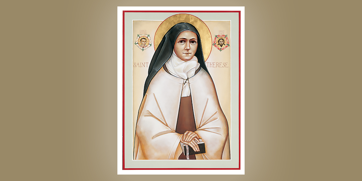 St. Therese of Lisieux by Br. Claude Lane, OSB