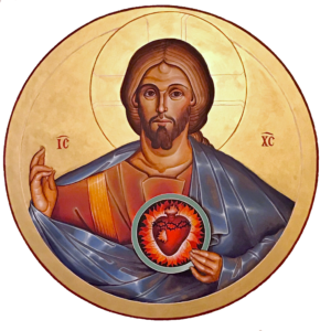 Sacred Heart icon by Br Claude Lane, OSB