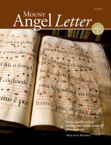 Mount Angel Letter autumn 2014 cover
