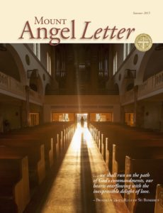 Mount Angel Letter summer 2015 cover