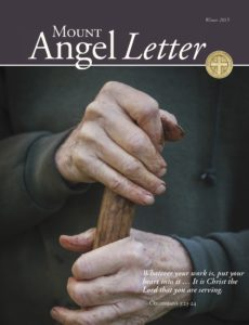 Mount Angel Letter winter 2015 cover